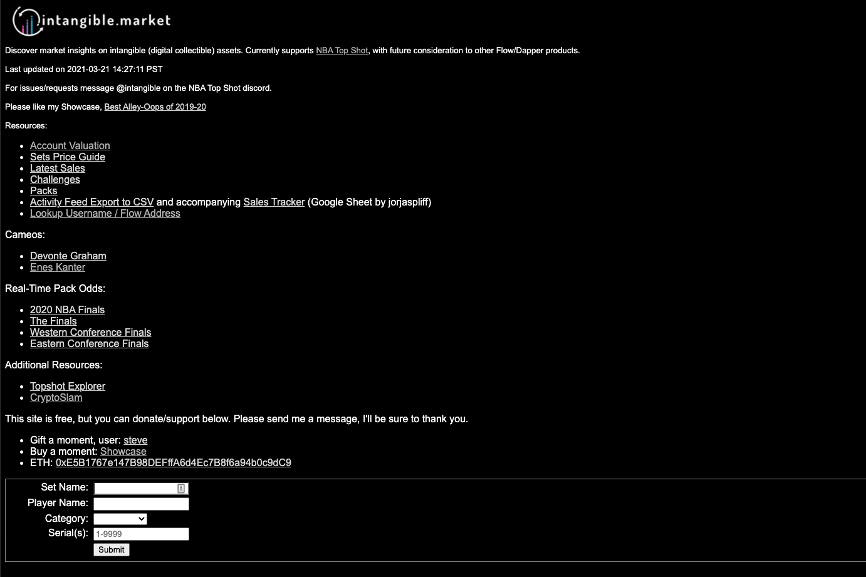 Intangible Market screenshot