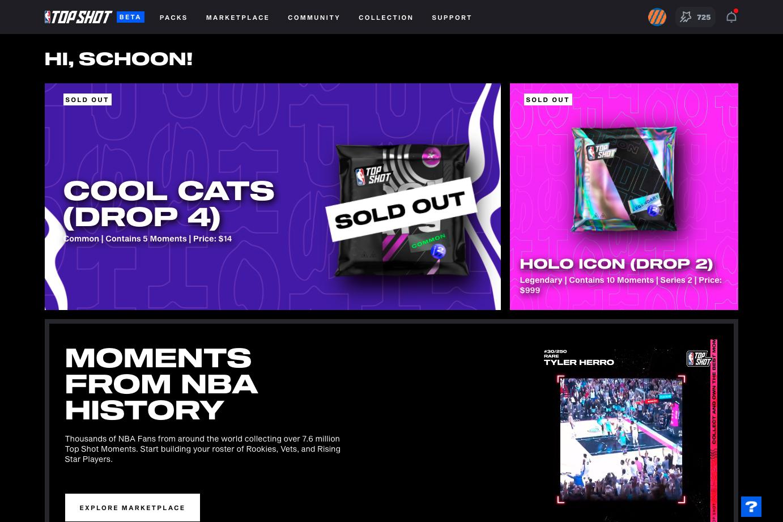 NBA TopShot (Official) screenshot